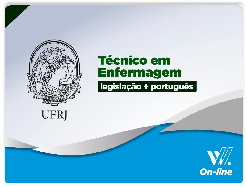 UFRJ - Português e Legislação  - Téc. Enfermagem - EAD